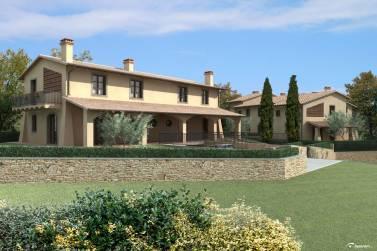 Vendita villetta bifamiliare capannoli pisa case in toscana for Piccole case in stile toscano